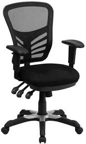 mid back mesh chair with tripple paddle control