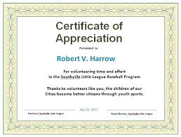 Sample Of Certificates Appreciation Template Words For Teachers