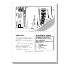 Online Shipping Labels 200 Shipping Labels With Tear Off Receipt Perfect Fit For Online