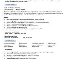 Free Rn Resume Template Sarahepps Com