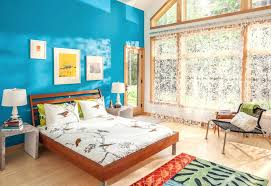 blue wall paint bedroom. Blue Wall Paints Bold Paint Bedroom . W