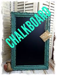 diy chalkboard from old picture frame