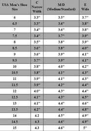 Shoe Size Charts