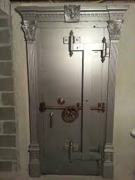 steel vault doors. The Vault Door To Man Cave Was Installed This Week. Built In Late 1800\u0027s, Time Lock Inspection Stickers Go Back 1921. Room Is 17 X 25. Steel Doors O