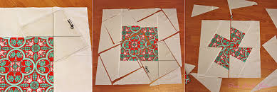 What We're Making! Twister Blocks | ilovefabric blog & Line up the intersection of the ruler with a print corner on the block and  cut following the ruler edge. Cut a square out of each corner. Adamdwight.com