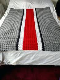 ohio state bedding state crochet blanket state afghan state crochet baby state knit blanket state football ohio state bedding