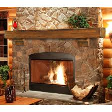 image of pearl wood fireplace mantels