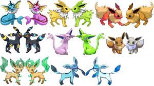 Eevee Evolution Chart With Names Pokemon Go Eevee Evolving Eevee Into Glaceon And Leafeon