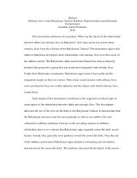 Pdf Ordinary Jews In The Babylonian Talmud Rabbinic