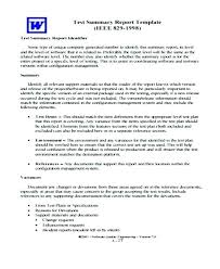 System Incident Report Template 9 Test Report Templates Free Sample