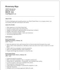 Real Estate Resume Examples Real Estate Resume Sample Download Real
