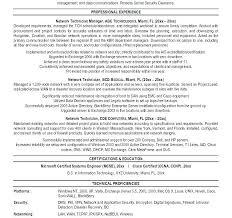 Sample Cable Technician Resume Network Technician Resume