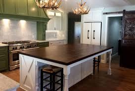 walnut butcher block kitchen island countertop