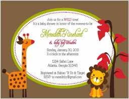 Free Printable Safari Birthday Invitations Jungle Baby Shower Invitations Free Printable Baby Jungle Baby