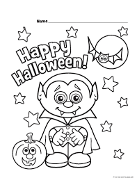 Small Picture Halloween Little Vampire Printable coloring pages for kidsFree