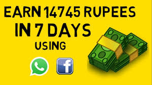 How To Earn 14745 rupees From Whatsapp and facebook in a week HINDI_हिंदी -  YouTube (1080p) - YouTube