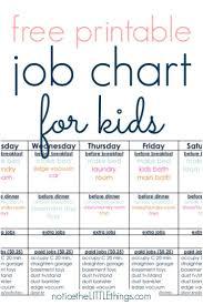 A Super Simple Kids Job Chart That Works Kids Job Chart