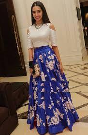 Designer Long Skirt Dresses Long Skirt And Top Indian Ficts