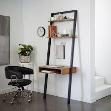 ladder shelf desk white espresso west elm with wall shelves prepare 13