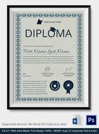 diploma certificate template word best diploma certificate psd  diploma certificate template word 12 best diploma certificate psd templates premium templates template