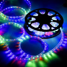 Rgb Rope Light Delight 50 Rgb Led Flex Rope Light In Outdoor Home Holiday Party Xmas Decor