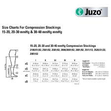 Compression Socks Chart Juzo Soft Knee High 30 40mmhg Compression Stockings