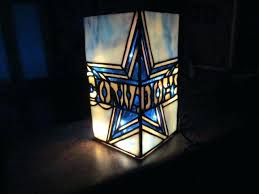 dallas cowboys lamps for custom stained glass lighted vase by dallas cowboys floor lamp