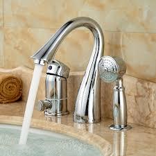 stunning bathtub faucet set deck mount 3 holes bathtub shower faucet set single handle with