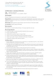 Fine Lab Research Assistant Resume Sample Gallery Entry Level