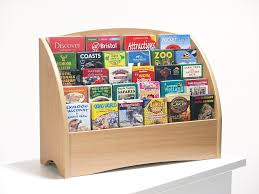 Wooden Leaflet Display Stands Wooden Counter top Leaflet Holder 100 Slots for DL A100 A100 2