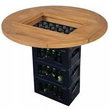 vidaXL <b>Teak Beer Crate Tabletop</b> 70 cm Outdoor Wine Cider ...