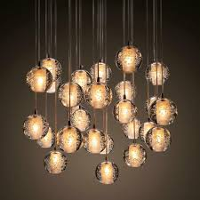pendant and chandelier lighting. Ecolight Modern Lamps Led Pendant Chandelier Lights Balls Transparent Crystal Globes Stairs Loft Light Fixtures LED And Lighting