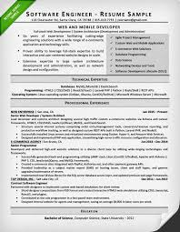 resumes sample for a software engineer