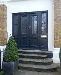 double front doors with side panels