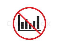 No Or Stop Column Chart Icon Stock Vector Colourbox