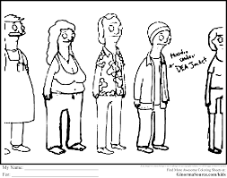 Bobs Burgers Coloring Pages Free To