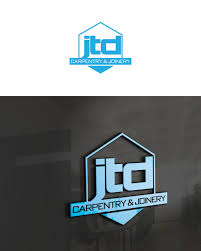 Jtd Designs Modern Professional Carpentry Logo Design For Jtd