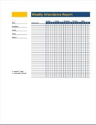 Attendance Chart Online Weekly Class Attendance Record