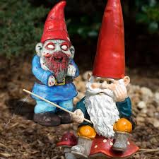 when you hear the words garden gnome the first things that e to mind are probably pointy hats fishing rod reuring smile big white beard and so