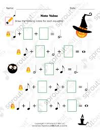 Halloween-Note Values | kadence | Pinterest | Music worksheets and ...