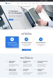 business services template pathsoft it solutions for your business services website
