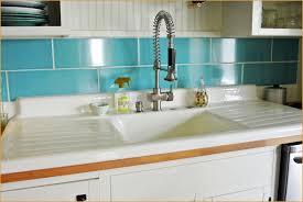 White Kitchen Sink with Drainboard Warm Kitchen Appliances Drop In