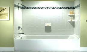 bathtub with surround how to tile tub ideas glass acrylic shower walls window