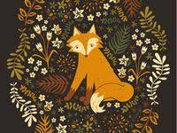 Лисы: лучшие изображения (201) | Лисята, Иллюстрации лисы и ...