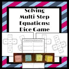 freebie solving multi step equations students will put 4 cubes