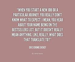when you start a new job or a particular journey you really don t preview quote