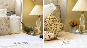 fall bedroom decor. summer to fall master bedroom decor transition at a delightsome life u