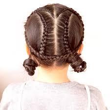 ダンスなどにもデザイン編み込みヘアアレンジ 女の子のママ必見