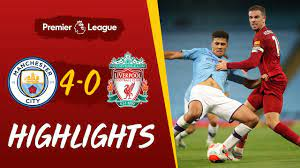 Highlights: Man City 4-0 Liverpool   Reds suffer defeat at the Etihad -  With added crowd effects - YouTube
