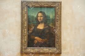 paris august 16 mona lisa by the italian artist leonardo da vinci at the louvre